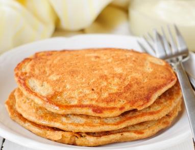 Besondere Pfannkuchen mit Quark und Karotten