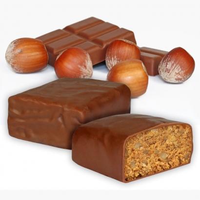 Bergsteiger Riegel mit Haselnuss und Schokolade