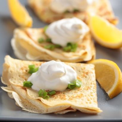 Crêpes mit Zitronenöl