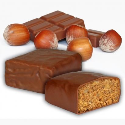 Fitness-Riegel mit Schokoladenüberzug