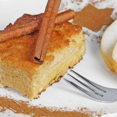 Hirse-Birnen-Auflauf ist eine leckere Süßspeise ob als Dessert oder Hauptspeise