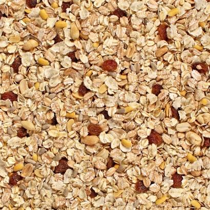 Mühlen Müsli 1 mit einer vollwertigen Flockenmischung aus Dinkelvollkorn-, Hafervollkorn- und Gerstenflocken