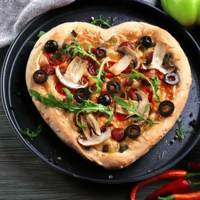 Valentinstags Pizza In Herzform Seitenbacher De