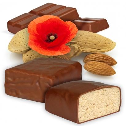 Protein Riegel 24.0 mit Mohnöl, Mandeln und Schokoladenüberzug
