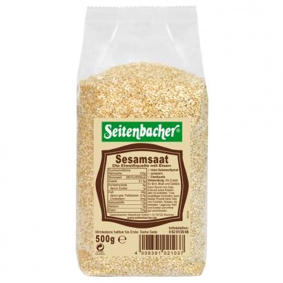 Gesunder gold gelber Sesam von Seitenbacher.