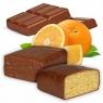 Proteinriegel Orange mit viel Eiweiß und Vollmilchschokolade