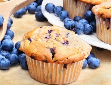 Leckere Blaubeer-Muffins mit Buttermilch