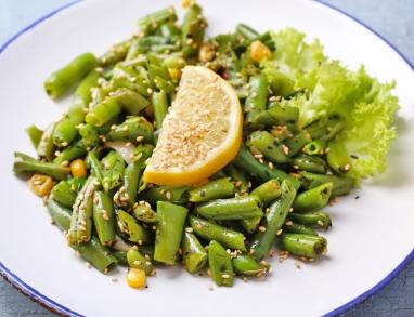 Bohnensalat mit Sesam