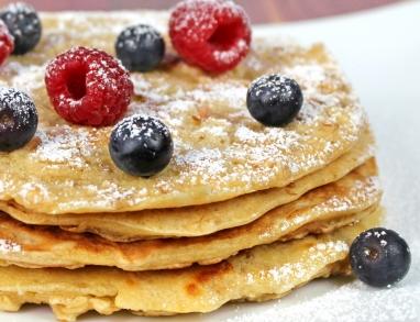 Haferflocken Pfannkuchen lecker mit herzhaftem oder süßem Belag