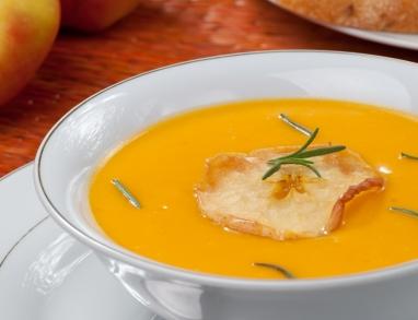 Kürbis Apfel Suppe