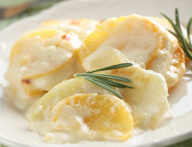 Kohlrabi Kartoffel Gratin