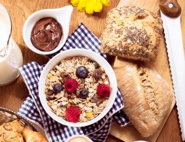 Müsli oder Brot