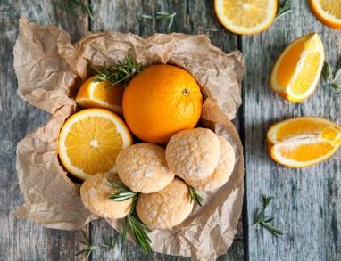 Orangen Rosmarin Kekse
