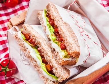 Ein vegetarisches Sandwich