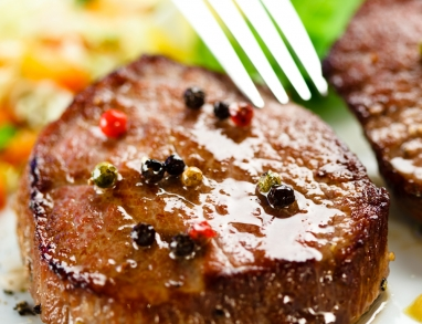 Steak in Kaffee BBQ Marinade