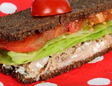proteinreiches Sandwich mit Thunfisch und Leinsaatöl