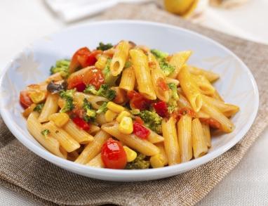 Leckere Pasta mit frischem Gemüse