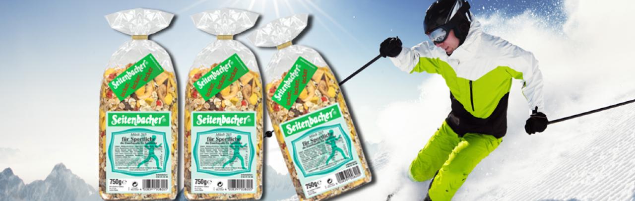 Seitenbacher Müsli für sportliche natürliche Eiweißquelle und natürliche Ballaststoffquelle