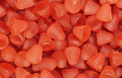Frucht Hütchen Erdbeere sind leckere und gesunde Sueßigkeiten mit vielen Ballaststoffen.