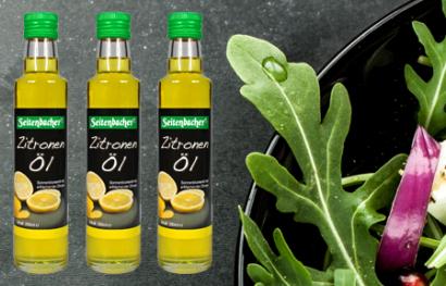Klatgepresstes Bio Zitronenöl aus Erstpressung für leckere und gesunde Salate